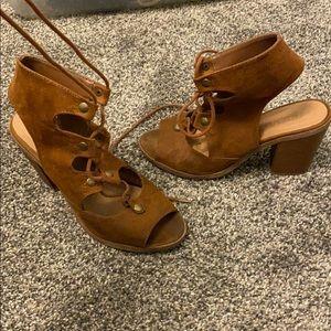 Brown Bootie Heels